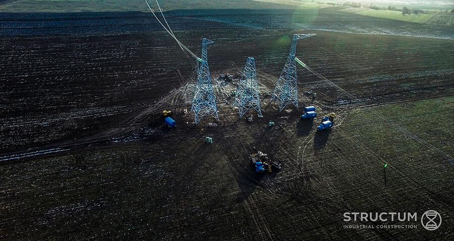 """Будівництво повітряної лінії 750 кВ """"Запорізька АЕС – Каховська"""", завершено!"""